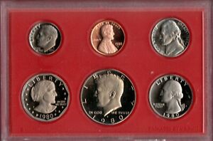 1980 S U.S. PROOF SET IN OGP NICE CAMEO'S.. A QUALITY SET HERE C2731
