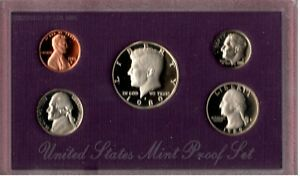 1989 S U.S. PROOF SET IN OGP NICE CAMEO'S.. A QUALITY SET HERE C2730