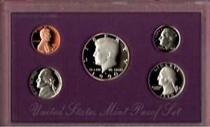 1990 S U.S. PROOF SET IN OGP NICE CAMEO'S.. A QUALITY SET HERE C2726