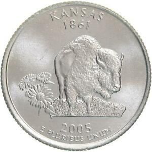 2005 D STATE QUARTER KANSAS CHOICE BU CN CLAD US COIN