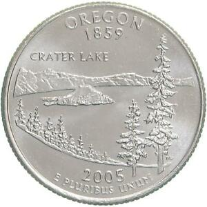 2005 D STATE QUARTER OREGON CHOICE BU CN CLAD US COIN