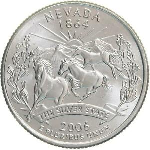 2006 P STATE QUARTER NEVADA CHOICE BU CN CLAD US COIN
