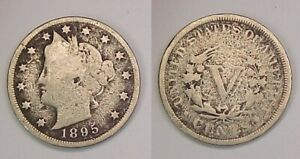 1895 LIBERTY NICKEL GOOD G DETAILS PITTED