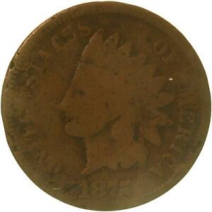 1875 INDIAN HEAD CENT ABOUT GOOD PENNY AG SEE PHOTOS C353