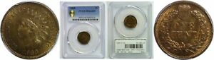 1868 INDIAN HEAD CENT PCGS MS 64 BN