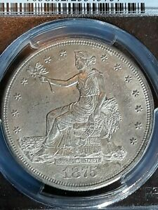 OLD WEST MS 62 1875  CC TRADE DOLLAR CERTIFIED 25345757 PCGS 7038 CARSON