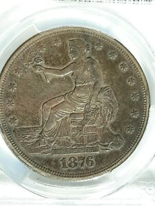 OLD WEST XF 45 1876  S TRADE DOLLAR CERTIFIED 30632926 PCGS 7043 SAN FRAN