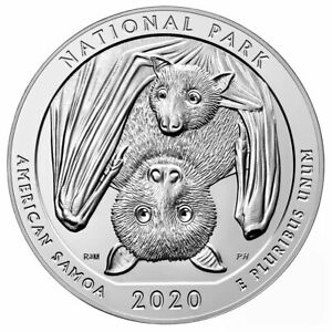 2020 5 OZ SILVER ATB AMERICA BEAUTIFUL AMERICAN SAMOA NP 25C BU DELAY SKU60598