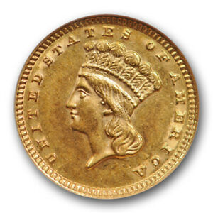 1883 $1 GOLD DOLLAR TYPE 3 LIBERTY HEAD NGC MS 62 UNCIRCULATED BETTER DATE