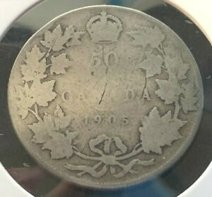 1905 CANADIAN 50 CENT COIN  C3082