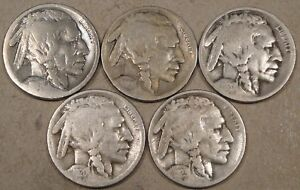 1916 S WHIZZED  1919 D 1920 D 1920 S 1923 S BUFFALO NICKELS AS PICTURED