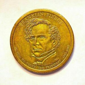 2010 P  FRANKLIN PIERCE ONE DOLLAR PRESIDENTIAL COIN PHILADELPHIA CIRCULATED