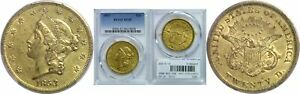 1853 $20 GOLD COIN PCGS XF 45