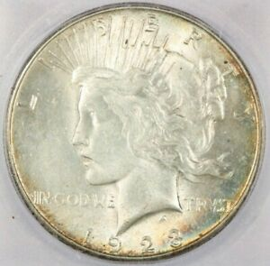 1923 1923 S PEACE SILVER DOLLAR ICG MS63 BEAUTIFUL PASTEL TONING