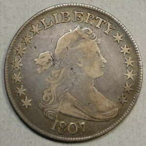 1807 DRAPED BUST HALF DOLLAR GOOD TO FINE    0214 20