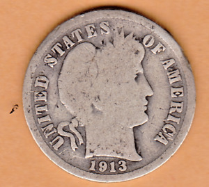 1913 BARBER DIME IN GOOD  CONDITION STK 98
