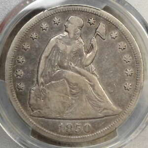 1850 O SEATED LIBERTY DOLLAR PCGS VF 20  NEW ORLEANS MINT DATE