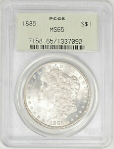 1885 MORGAN DOLLAR PCGS MS65 OGH  BIB2