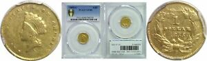 1855 C $1 GOLD COIN PCGS XF 40