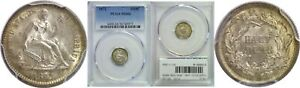 Click now to see the BUY IT NOW Price! 1872 SEATED LIBERTY HALF DIME PCGS MS 66