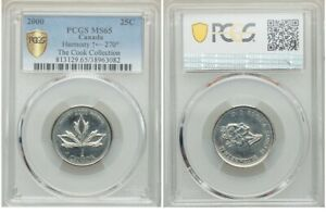 Click now to see the BUY IT NOW Price! ERROR   2000 CANADA 25 CENTS HARMONY PCGS MS 65 WITH A 270 DEGREE DIE ROTATION