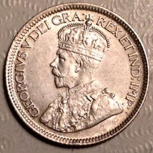 1928 CANADA GEORGE V TEN 10 CENTS