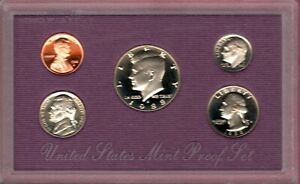 1988 S U.S. PROOF  SET IN ORIGINAL BOX.  NICE CAMEO COINS TONING BUY IT NOW