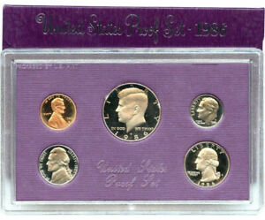 1986 S US MINT 5 COIN PROOF