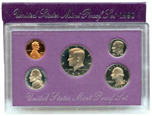 1990 S US MINT 5 COIN PROOF