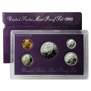 1992 S US MINT 5 COIN PROOF