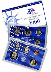 2000 S US MINT 10 COIN PROOF