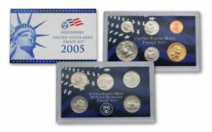 2005 S US MINT 11 COIN PROOF NO BOX