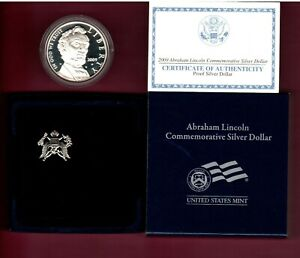 2009 P ABRAHAM LINCOLN PROOF COMMEMORITIVE SILVER DOLLAR IN OGP  C2685