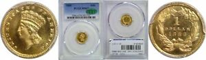 1883 $1 GOLD COIN PCGS MS 67 CAC