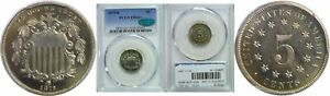 1879/8 SHIELD NICKEL PCGS PR 66  CAC