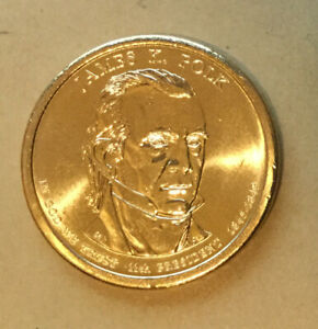 2009 P JAMES K. POLK   PRESIDENTIAL DOLLAR  COIN IS FROM U.S. MINT ROLL