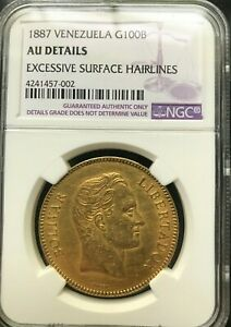 Click now to see the BUY IT NOW Price! 1887 VENEZUELA 100 BOLIVARES GOLD COIN PACHANO NGC AU58