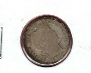 1892 O BARBER SILVER  DIMEGRADES ALMOST GOOD SLIGHT ROTATED REVERSE C1843