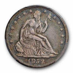 1852 O 50C SEATED LIBERTY HALF DOLLAR PCGS VF 30 FINE TO EXTRA FINE CERT