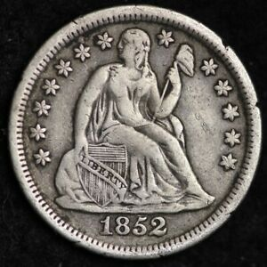 1852 SEATED LIBERTY DIME CHOICE XF  E241 ACM