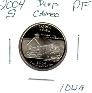 2004 S IOWA STATE QUARTER GEM PROOF DEEP CAMEO MAKE AN OFFER  C1215FL