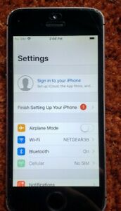 APPLE IPHONE 5S   16GB   SPACE GRAY  AT&T  A1533  GSM