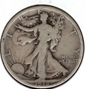 1918 S WALKING LIBERTY HALF DOLLAR GRADES GOOD  BUY IT NOW C676