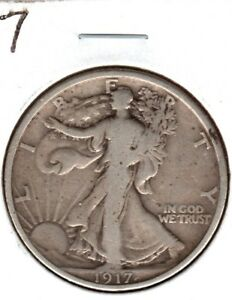 1917 WALKING LIBERTY HALF DOLLAR GRADES A NICE FINE..YOU CAN BUY IT NOW C401