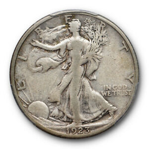 1923 S 50C WALKING LIBERTY HALF DOLLAR PCGS VF 20 FINE BETTER DATE ORIGINAL