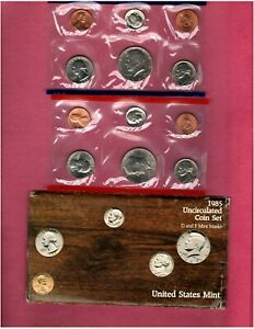 1985 U.S. MINT SET NICE CHOICE BU QUALITY SET HERE NO SPOTS ON CENTS   FL210
