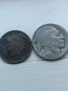ASSORTED COIN LOT  BUFFALO AND INDIAN HEAD    GREAT LOT   SELLER 120