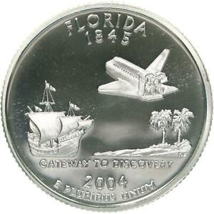 2004 S STATE QUARTER FLORIDA GEM PROOF DEEP CAMEO CN CLAD COIN