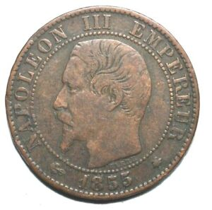 FRANCE   NAPOLON III  5 CENTIMES 1855 1647