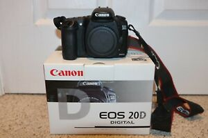 CANON EOS 20D DSLR CAMERA BODY ONLY   ORIGINAL PACKAGING   MORE